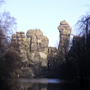 Ein geomanticher Kraftort - die Externsteine bei Horn - Bad Meinberg